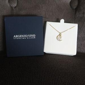 Argento Vivo Moon🌙 and Star⭐ Pendant Necklace NIB